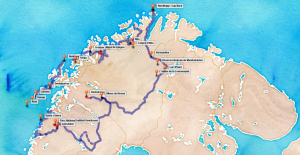 Itinéraire du projet Laponie en Roue libre