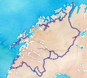 Itinéraire modifié du projet Laponie en Roue libre