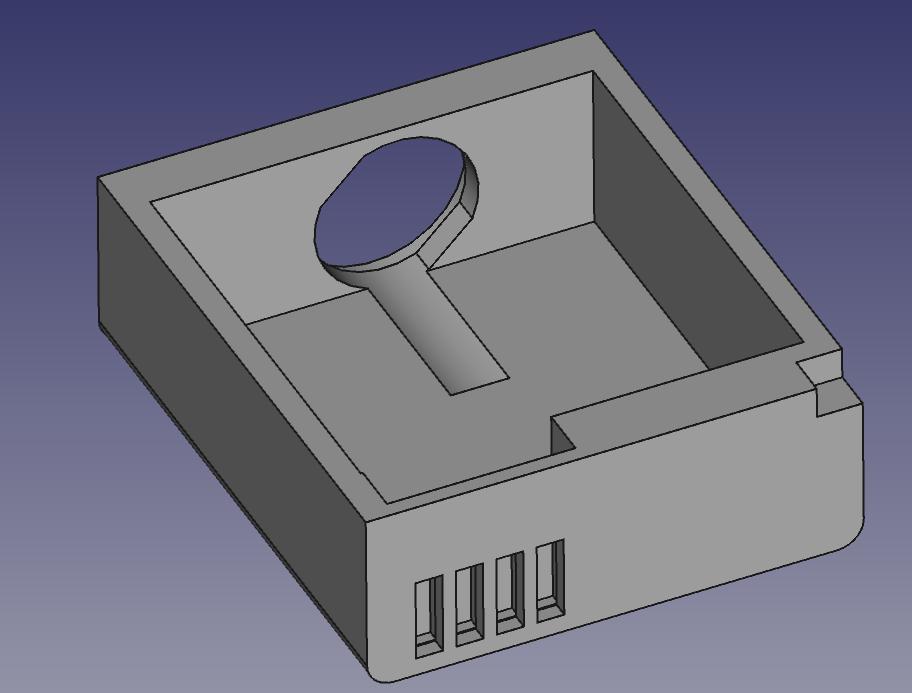 Modèle 3D de la fausse batterie