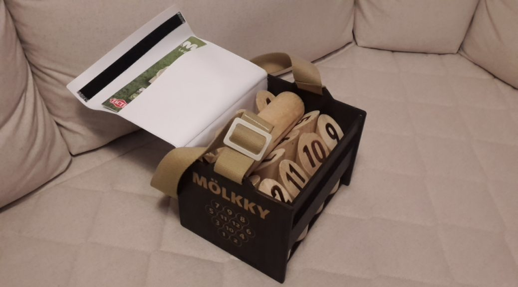 Boîte pour jeu de Mölkky